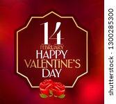 14 february valentine's day... | Shutterstock .eps vector #1300285300
