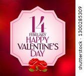 14 february valentine's day... | Shutterstock .eps vector #1300285309
