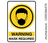 mask required  gas hazard  ware ... | Shutterstock .eps vector #1300286470