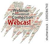 vector conceptual webcast or... | Shutterstock .eps vector #1300286743