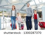 family with children and... | Shutterstock . vector #1300287370