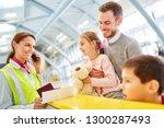 family before departure on...   Shutterstock . vector #1300287493