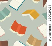 seamless flying books pattern. | Shutterstock .eps vector #130029239