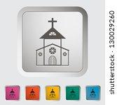 Church Single Icon. Vector...