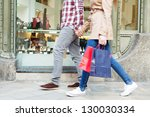 lower body section of a young... | Shutterstock . vector #130030334