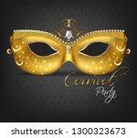 golden ornamented mask vector... | Shutterstock .eps vector #1300323673