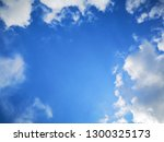 blue sky with some white cloud... | Shutterstock . vector #1300325173