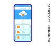 cloud storage app smartphone...