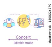 concert concept icon. artiste...   Shutterstock .eps vector #1300326370