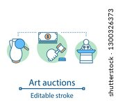 art auction concept icon.... | Shutterstock .eps vector #1300326373