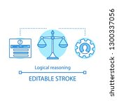 logical reasoning concept icon. ... | Shutterstock .eps vector #1300337056