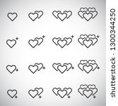 heart icon vector   love symbol ... | Shutterstock .eps vector #1300344250