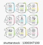 timeline set of article ...   Shutterstock .eps vector #1300347100