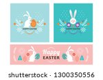 easter banner design  square... | Shutterstock .eps vector #1300350556