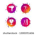 hairdresser icons. scissors cut ... | Shutterstock .eps vector #1300351606