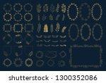design set for summer wedding.... | Shutterstock .eps vector #1300352086