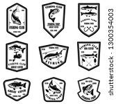 set of fishing club emblems.... | Shutterstock .eps vector #1300354003