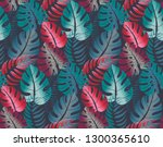 beautiful seamless pattern with ... | Shutterstock .eps vector #1300365610