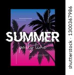 summer party time text with... | Shutterstock .eps vector #1300367986
