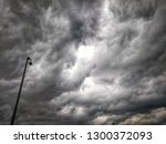 dramatic cloudy sky and clouds | Shutterstock . vector #1300372093