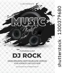music night template or flyer... | Shutterstock .eps vector #1300379680