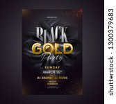 black gold party template or... | Shutterstock .eps vector #1300379683