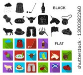 country scotland flat icons in... | Shutterstock . vector #1300382260