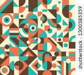 geometric abstraction in retro... | Shutterstock .eps vector #1300385359