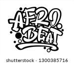 afrobeat hand drawn lettering....   Shutterstock .eps vector #1300385716