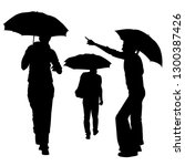 Vector Silhouettes Of A Group...