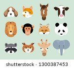 vector illustration set of cute ... | Shutterstock .eps vector #1300387453
