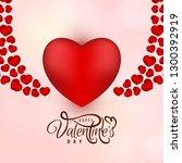 beautiful happy valentine's day ...   Shutterstock .eps vector #1300392919