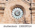 Clock on old Kaarli church. Tallinn. Estonia - stock photo