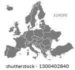 modern map   europe with... | Shutterstock .eps vector #1300402840