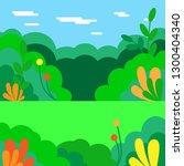 vector illustration. summer... | Shutterstock .eps vector #1300404340
