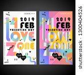 valentine day vector... | Shutterstock .eps vector #1300404526