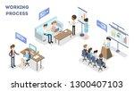 working process set. business...   Shutterstock . vector #1300407103