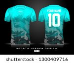 sports jersey template for team ...   Shutterstock .eps vector #1300409716
