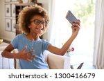 african american pre teen girl... | Shutterstock . vector #1300416679