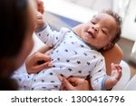 happy three month old african... | Shutterstock . vector #1300416796