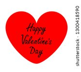 happy valentines day sign...   Shutterstock .eps vector #1300418590