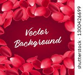 falling red rose petals... | Shutterstock .eps vector #1300426699