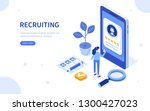 recruitment concept banner... | Shutterstock .eps vector #1300427023