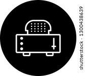 vector slice toaster icon  | Shutterstock .eps vector #1300438639