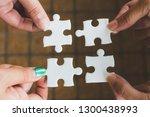 hands of diverse people... | Shutterstock . vector #1300438993