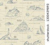 vector abstract seamless... | Shutterstock .eps vector #1300439893