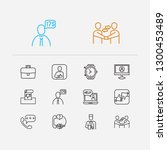 support icons set. client and...