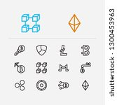 crypto currency icons set. coin ...