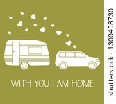 vector illustration with car... | Shutterstock .eps vector #1300458730