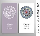 cards or invitations set with... | Shutterstock .eps vector #1300461286